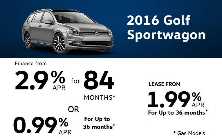 December Offers on 2016 Golf Sportwagon