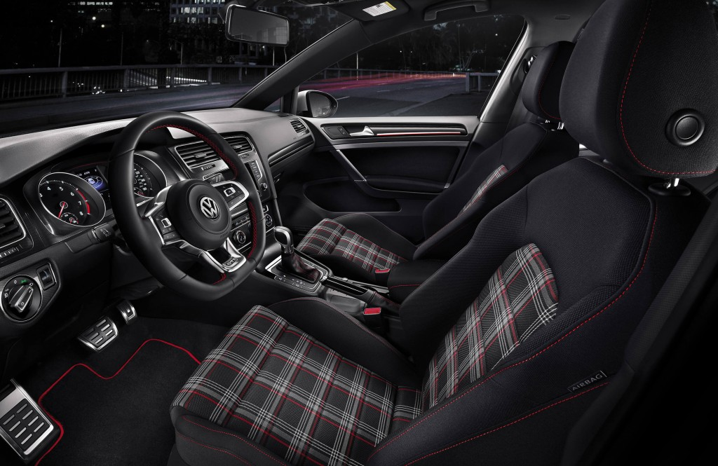 Plaid Clack Cloth Interior Sport Seats