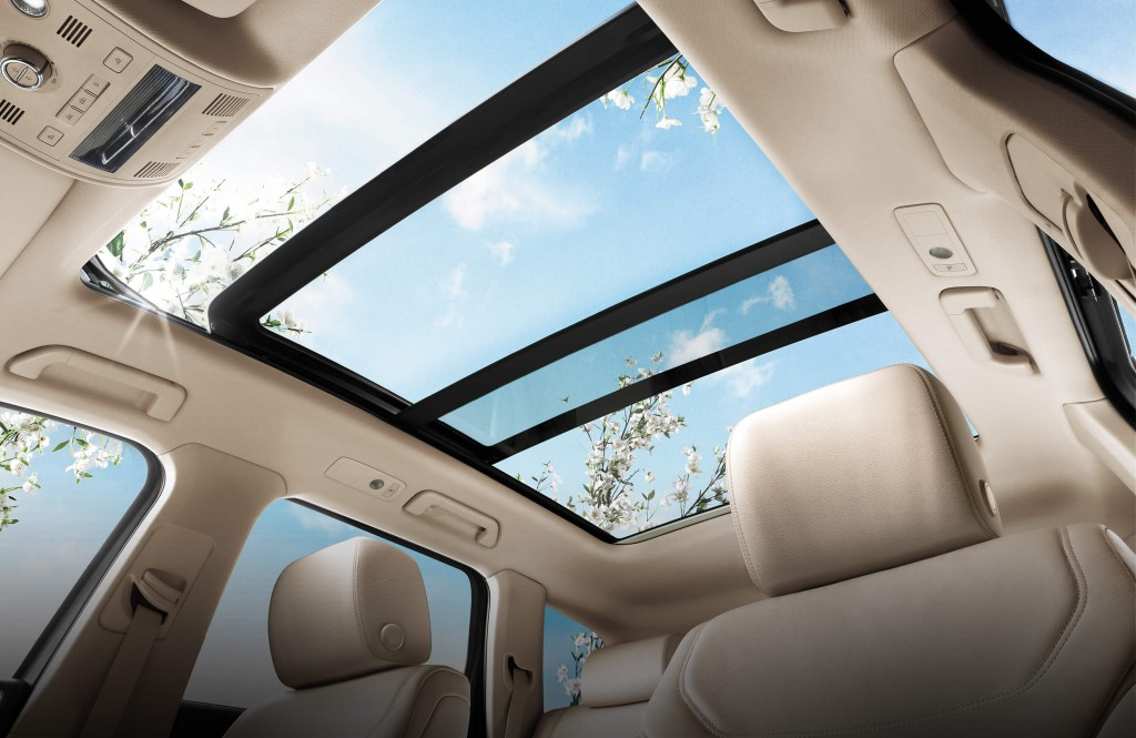 PAnoramic Sunroof in the 2015 Touareg