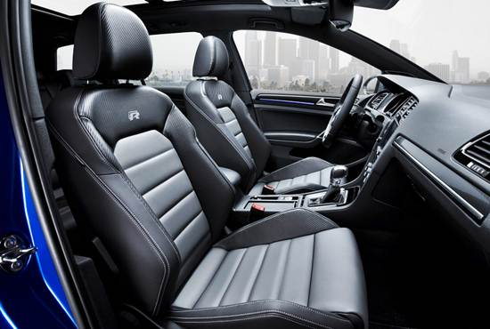 2016 Golf R Interior seats