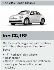 Classic Beetle Specs