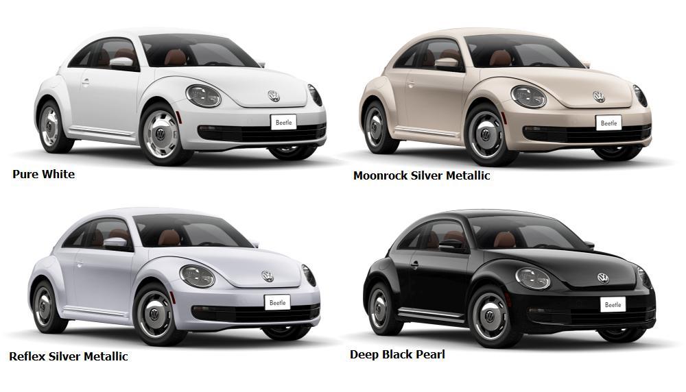 2016 Beetle Classic Colours