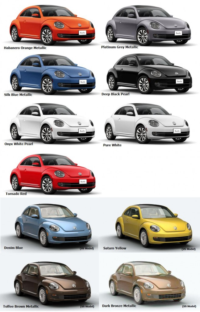 2016 Beetle Colours