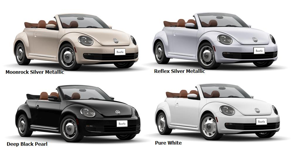 2016 Beetle Convertible Classic Colours