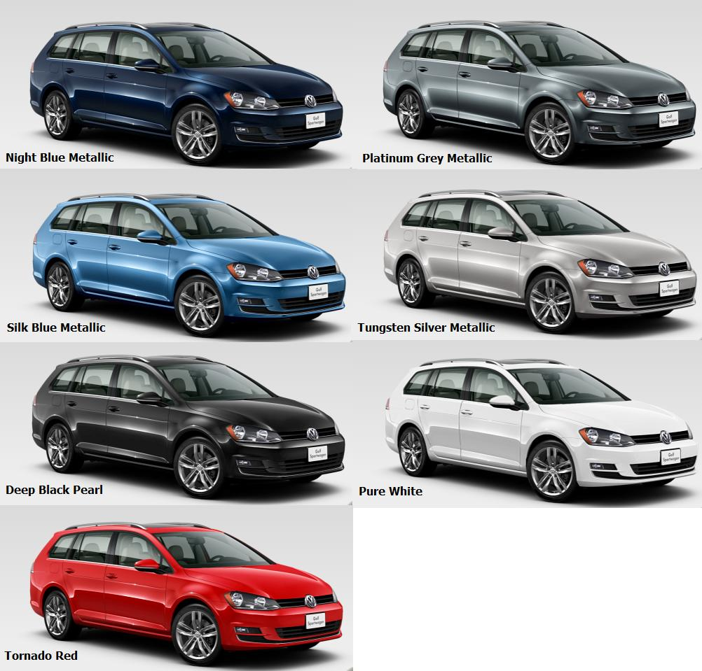 2016 Golf Wagon Colours