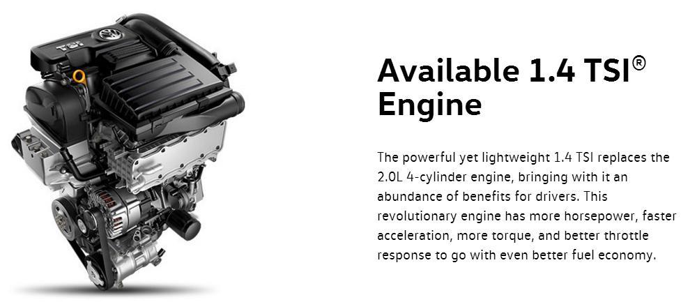 2016 Jetta TSI engine