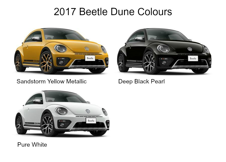 2017 Beetle Dune Colour Chart