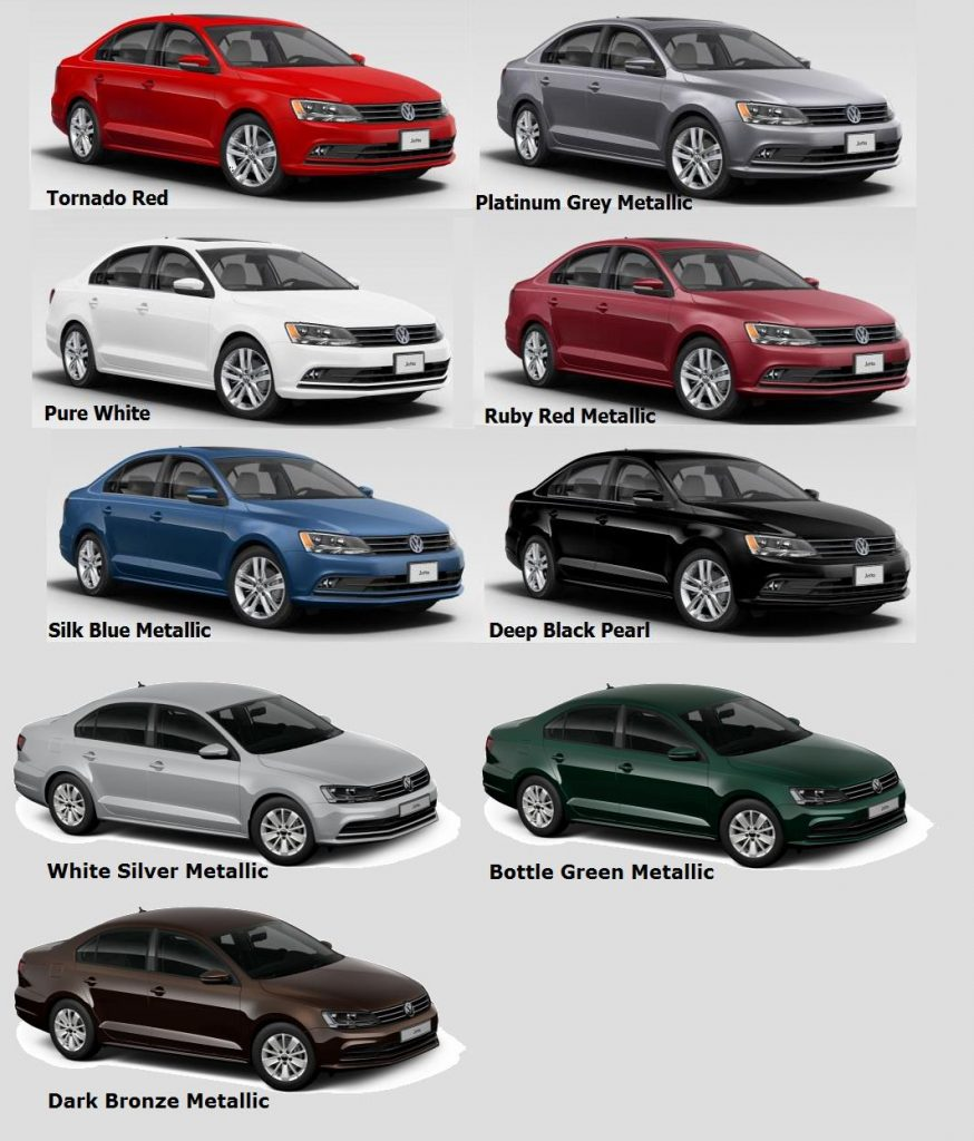 2017 Jetta Colour Chart
